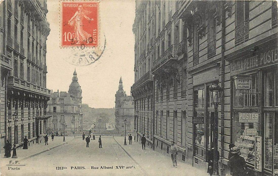 la rue et le square alboni en 1900 paris ancien. Black Bedroom Furniture Sets. Home Design Ideas